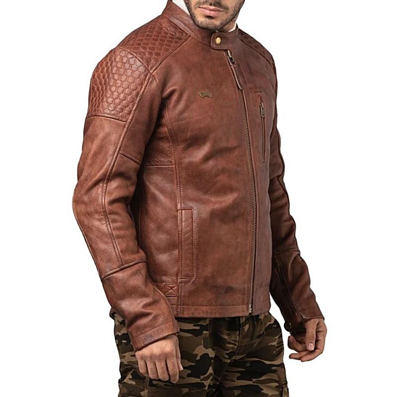 스피릿 브라운 가죽 재킷-6