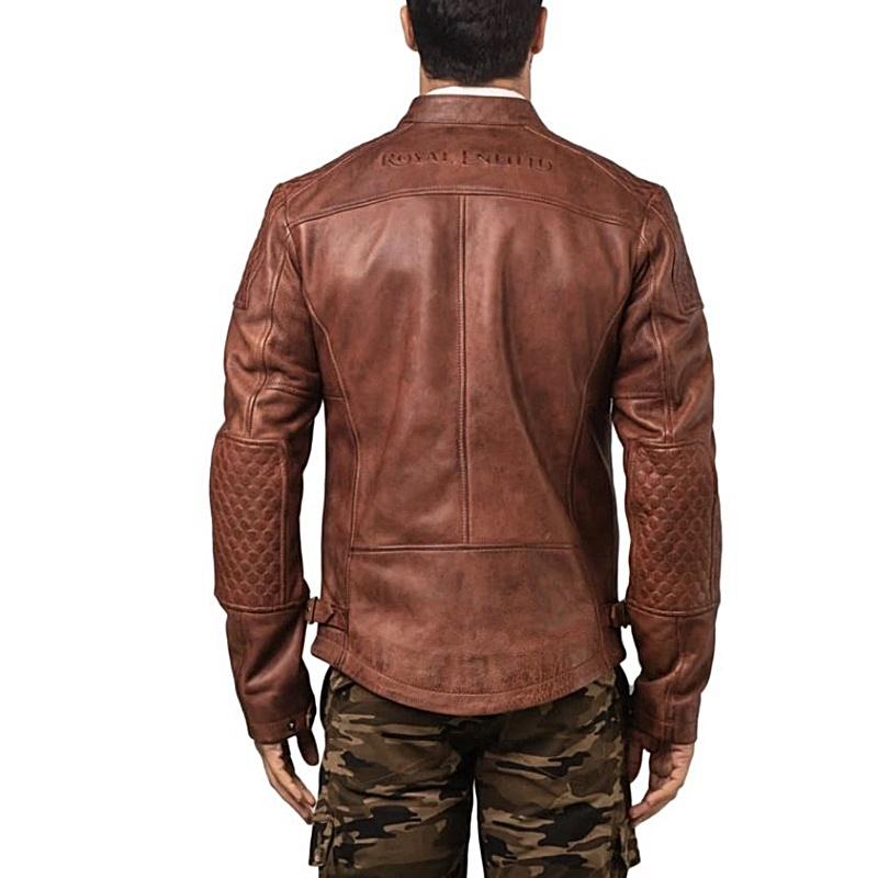 스피릿 브라운 가죽 재킷-5