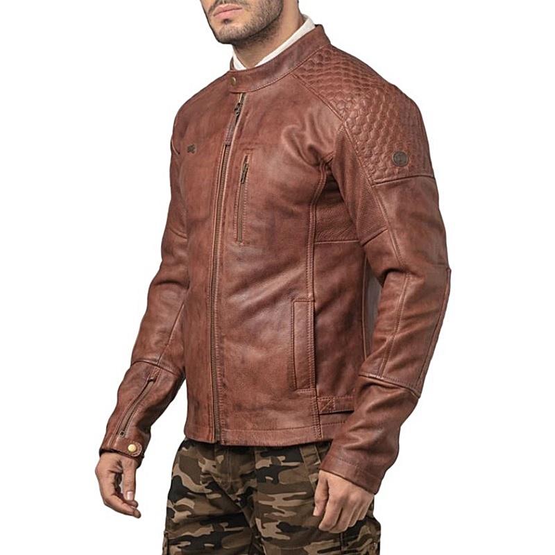 스피릿 브라운 가죽 재킷-7