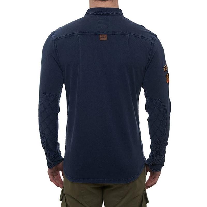 데님 블루 긴팔 셔츠