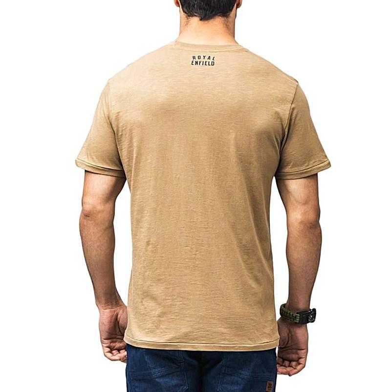 라이드 더 월드 카키 반팔 티셔츠