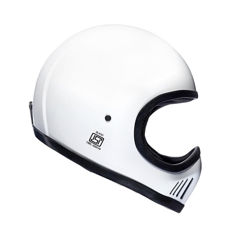 엔듀로 화이트 풀페이스 헬멧