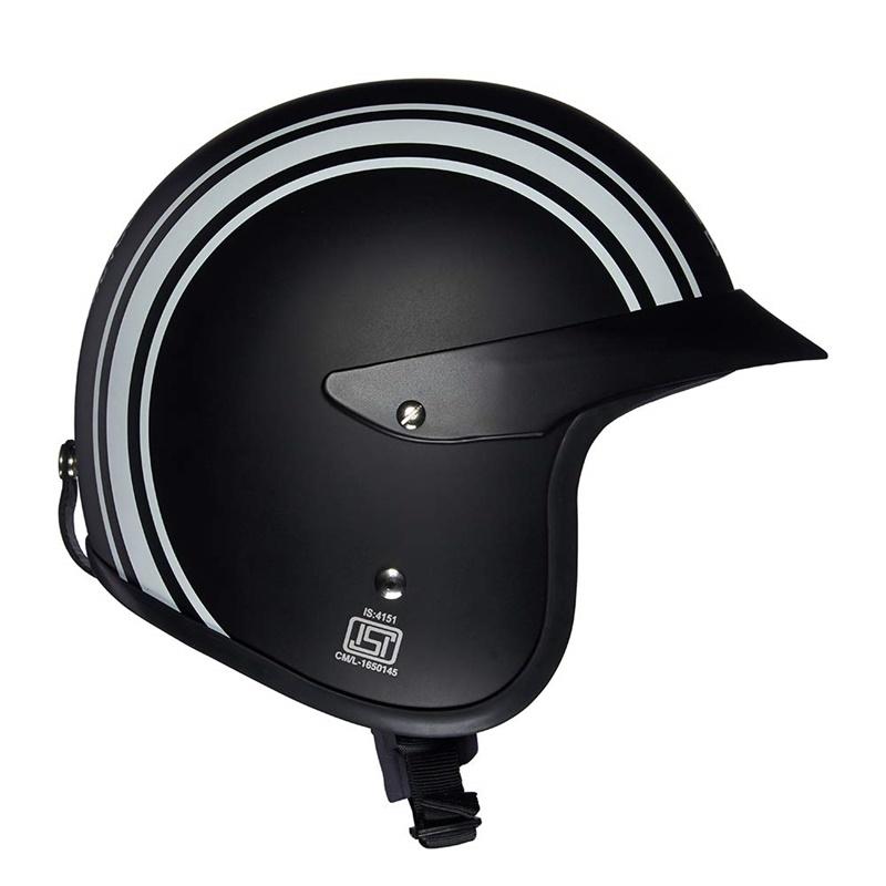 매트 블랙 오픈 페이스 헬멧-6
