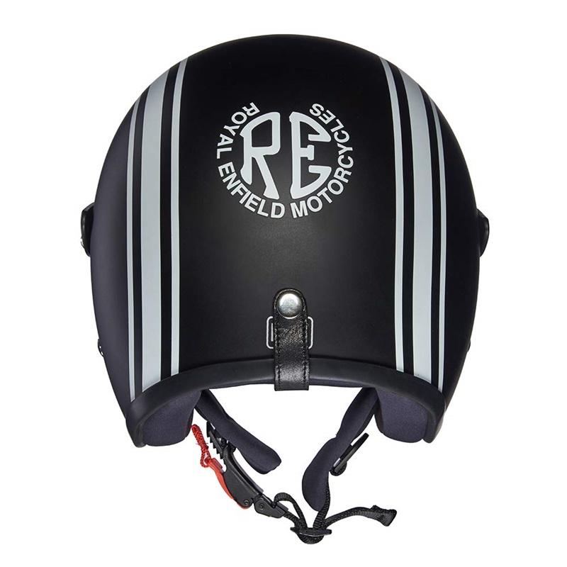 매트 블랙 오픈 페이스 헬멧-4