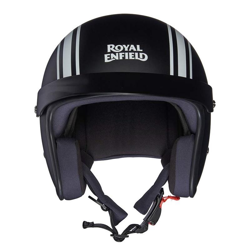 매트 블랙 오픈 페이스 헬멧-5