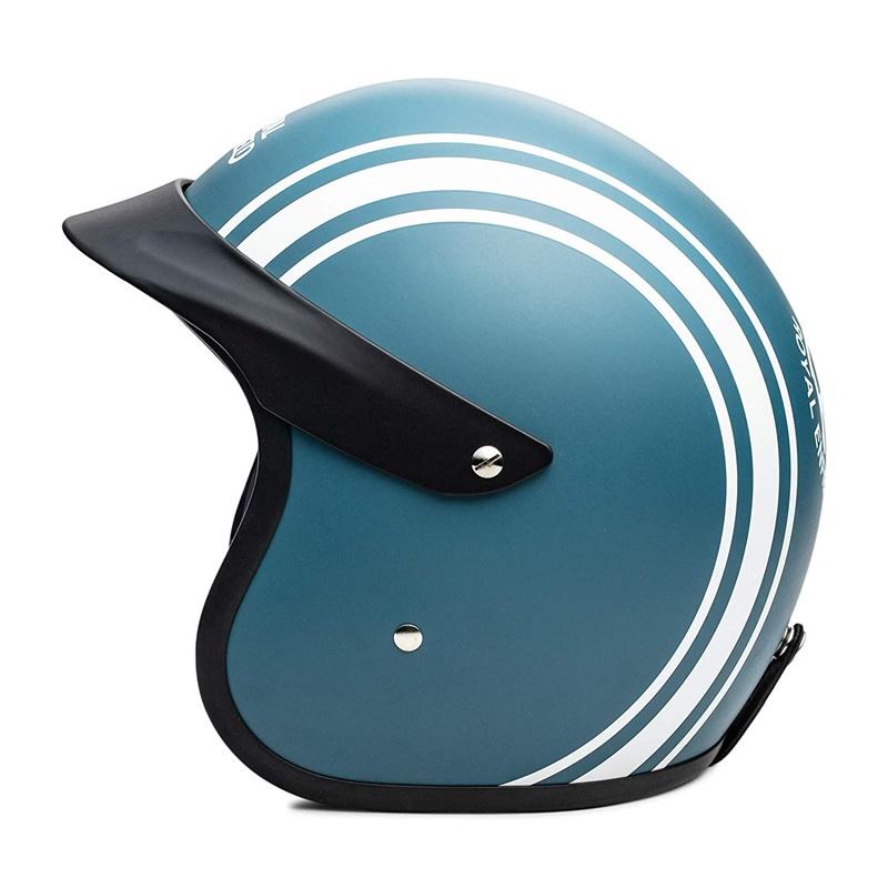 매트 블루 오픈 페이스 헬멧