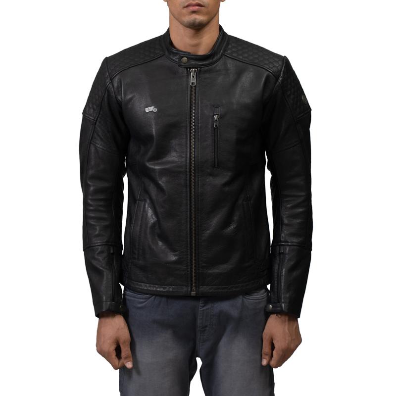 스피릿 블랙 가죽 재킷-3