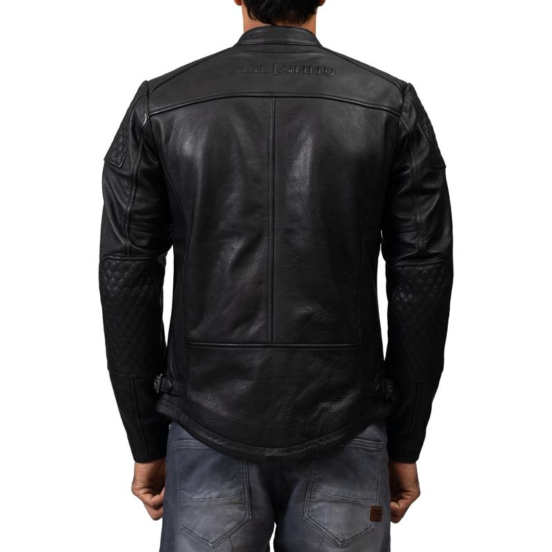 스피릿 블랙 가죽 재킷-4