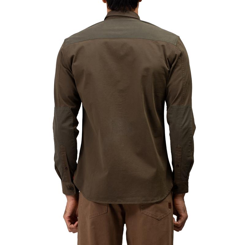 투러 올리브 긴팔 셔츠-4