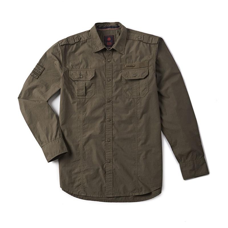 홀스타 올리브 긴팔 셔츠-1