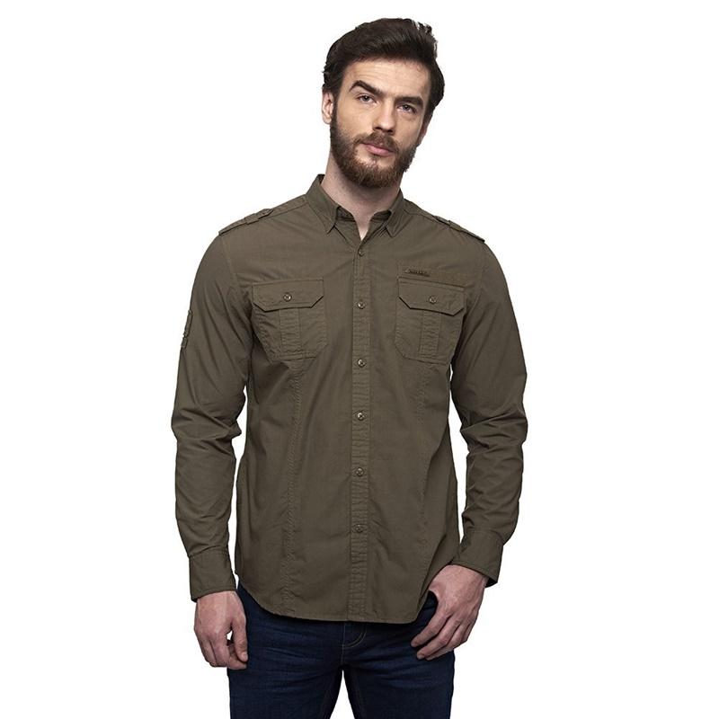 홀스타 올리브 긴팔 셔츠-2