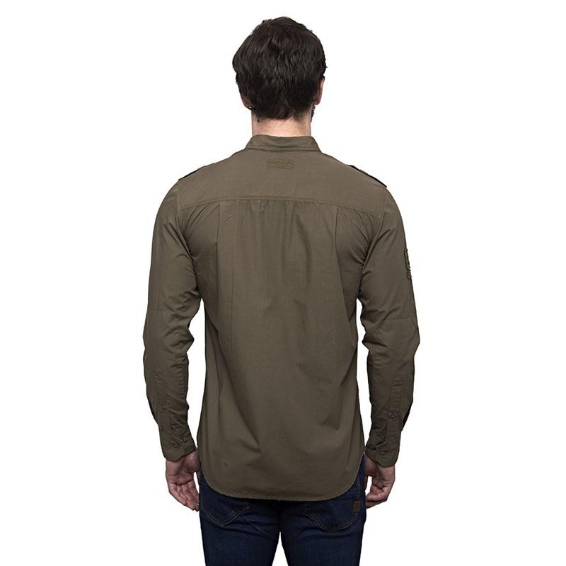 홀스타 올리브 긴팔 셔츠-3