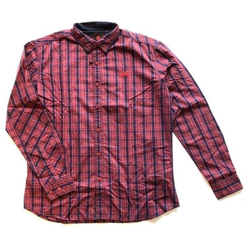 위켄더 레드 긴팔 셔츠-1