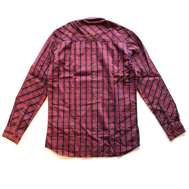 위켄더 레드 긴팔 셔츠-2