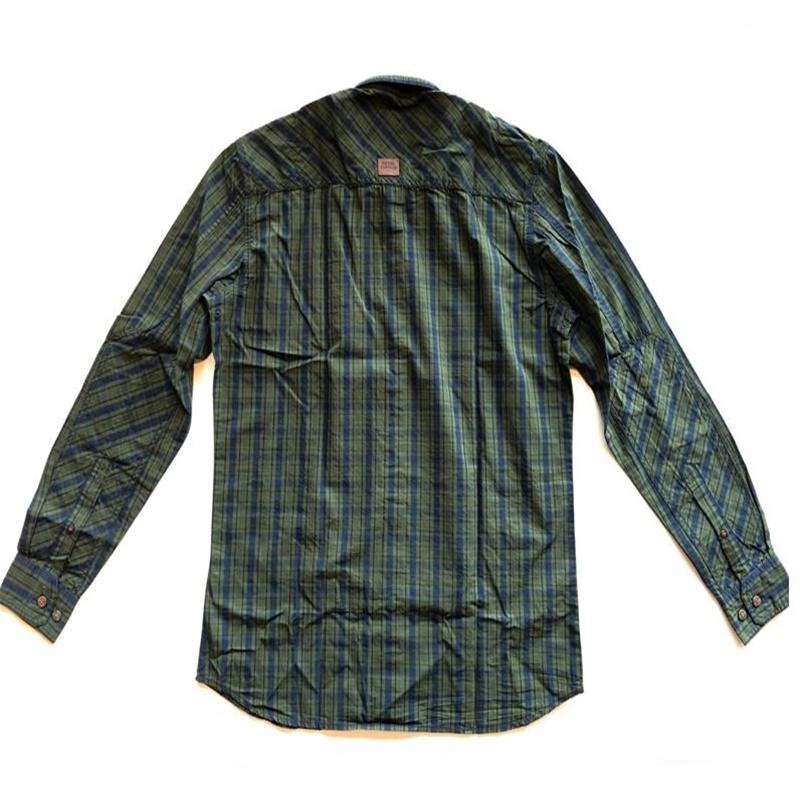 위켄더 블루 긴팔 셔츠-2