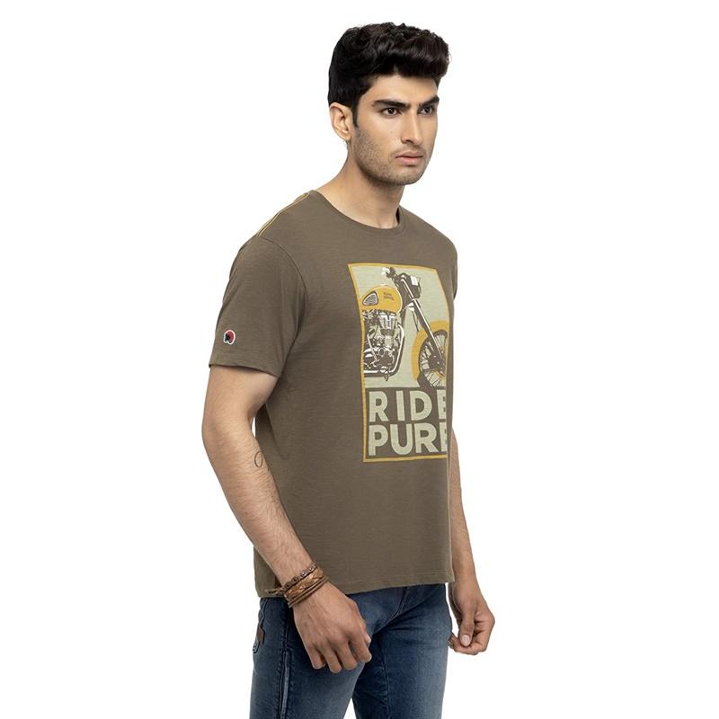 라이드 퓨어 올리브 반팔 티셔츠-3