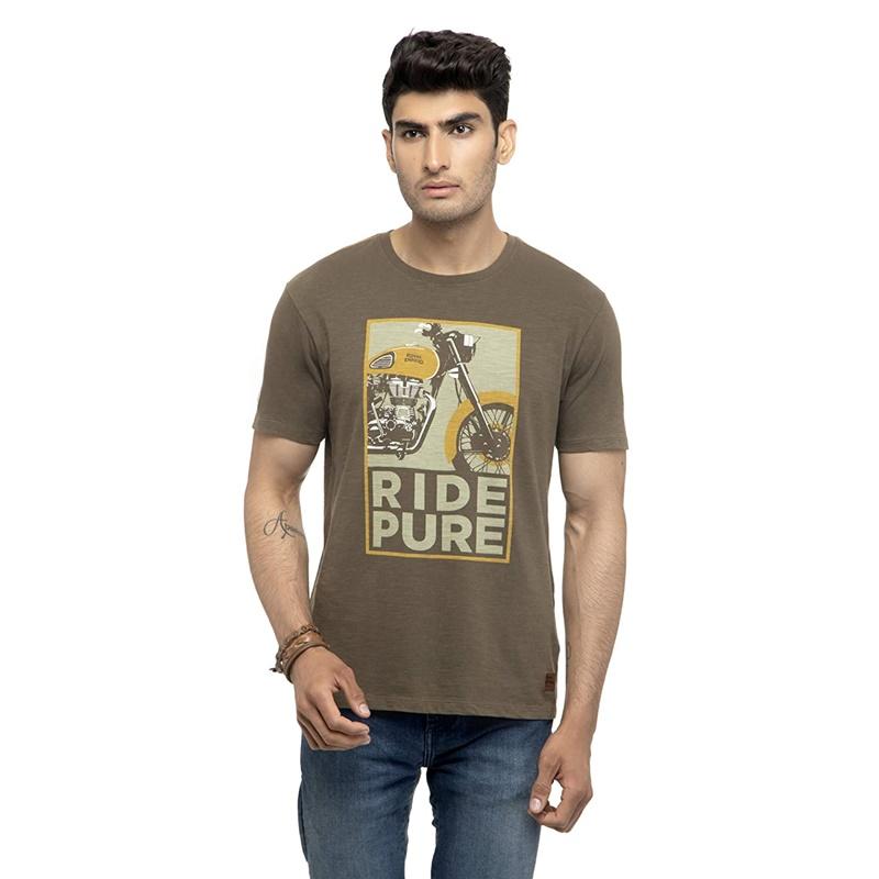 라이드 퓨어 올리브 반팔 티셔츠-4