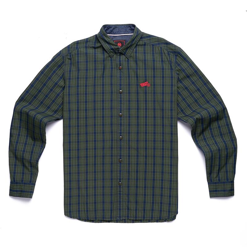 위켄더 블루 긴팔 셔츠-1