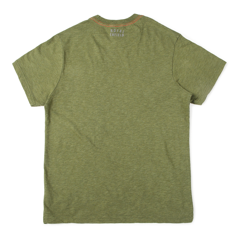 캠프장 올리브 멜란지 반팔 티셔츠-2