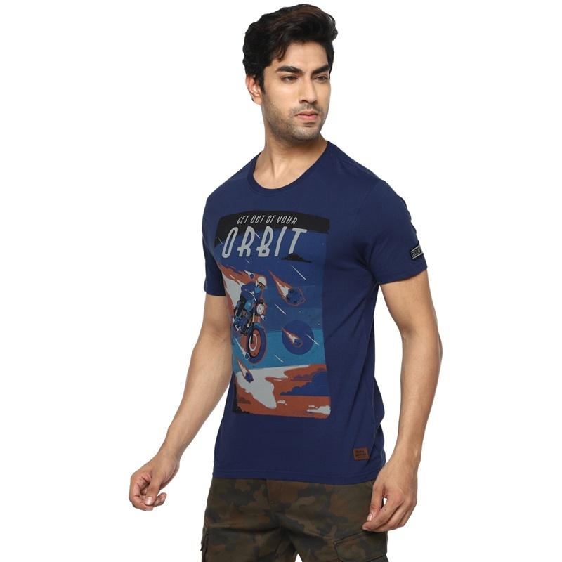 메테오 네이비 반팔 티셔츠-3
