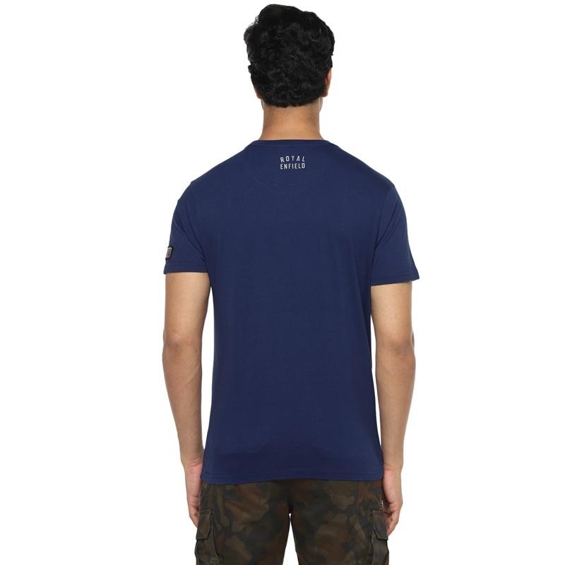 메테오 네이비 반팔 티셔츠-4