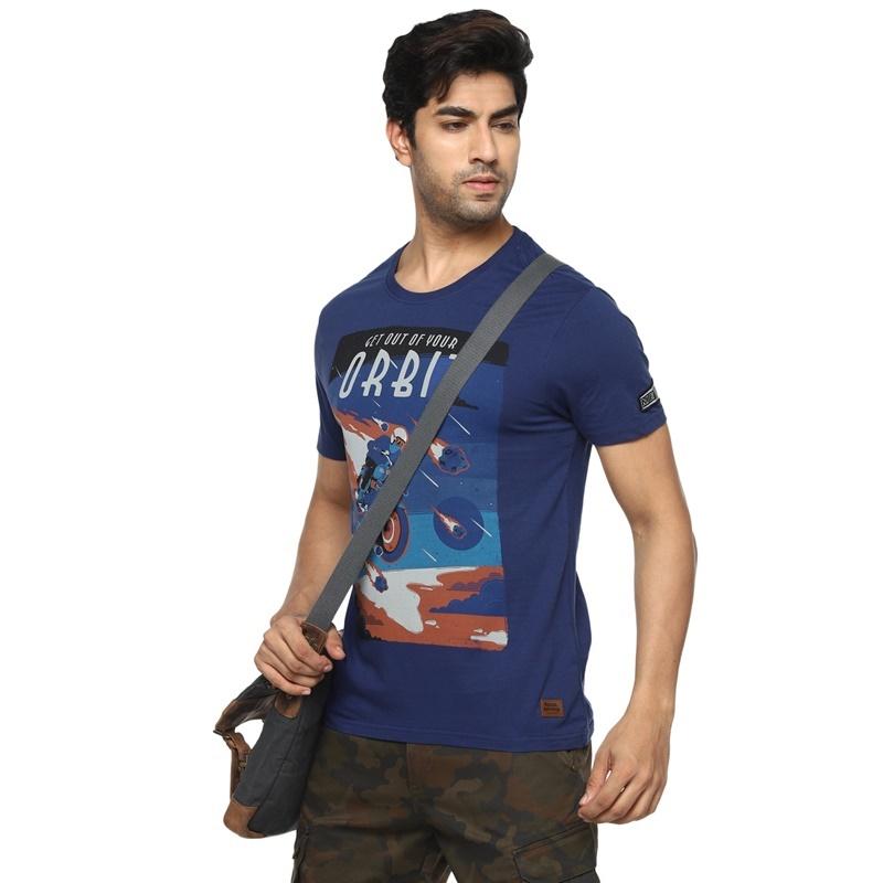 메테오 네이비 반팔 티셔츠-5