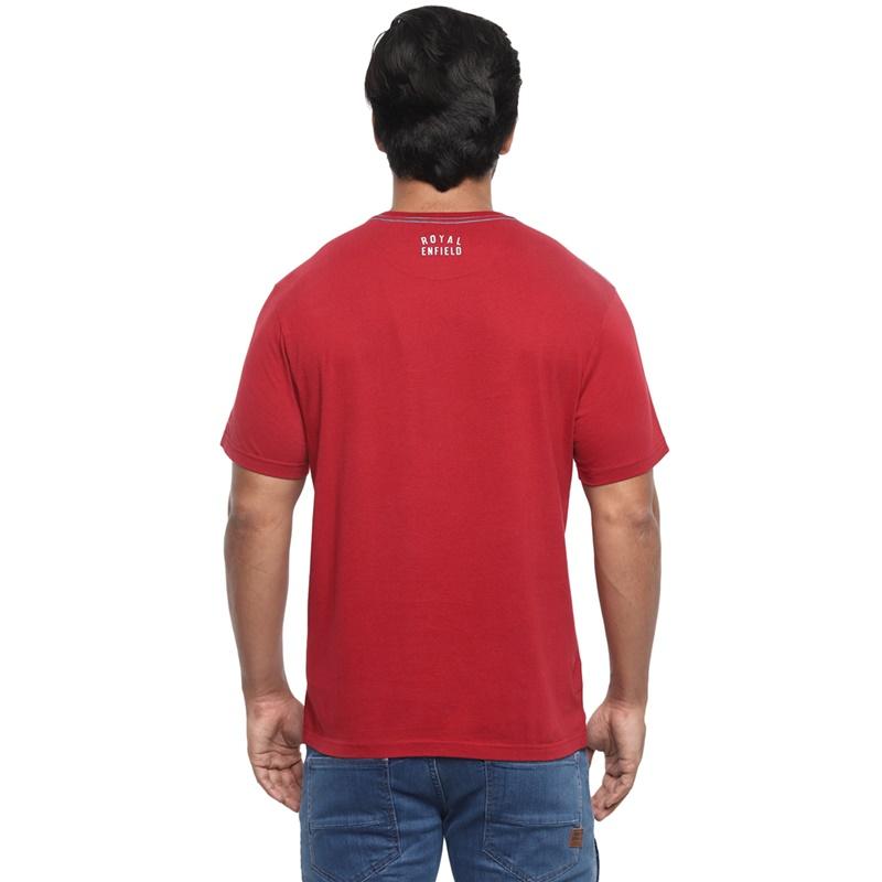 포트 트레일 체리 레드 반팔 티셔츠-2