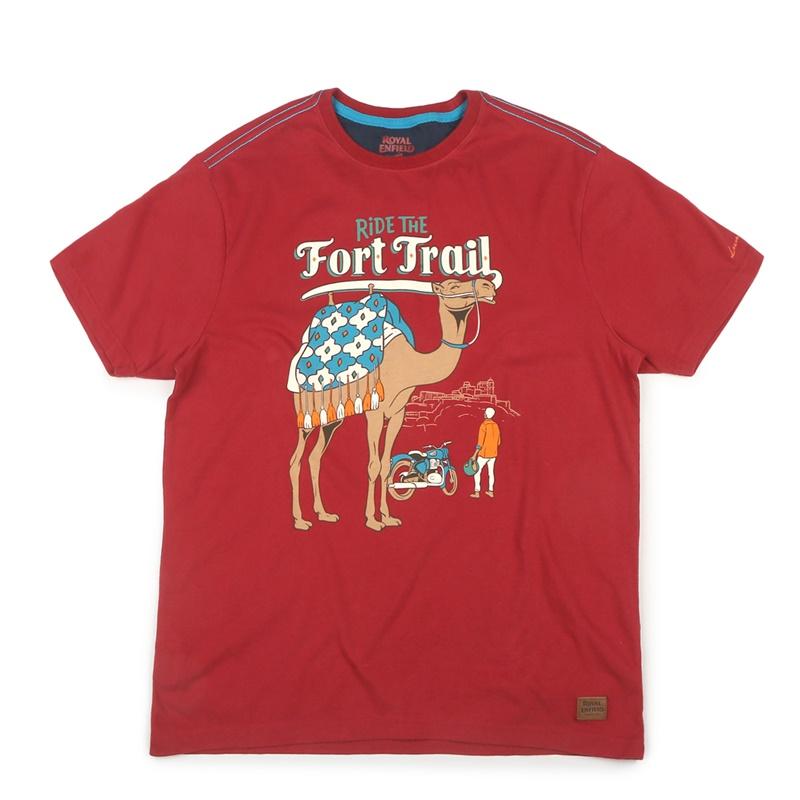 포트 트레일 체리 레드 반팔 티셔츠-4