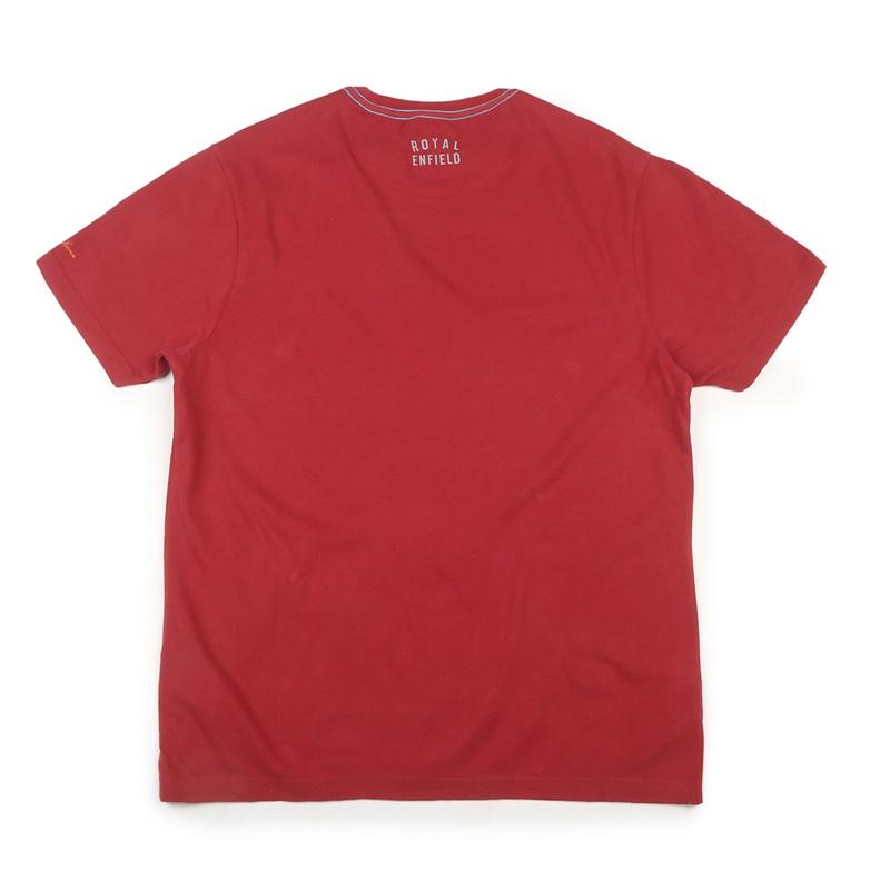포트 트레일 체리 레드 반팔 티셔츠-5
