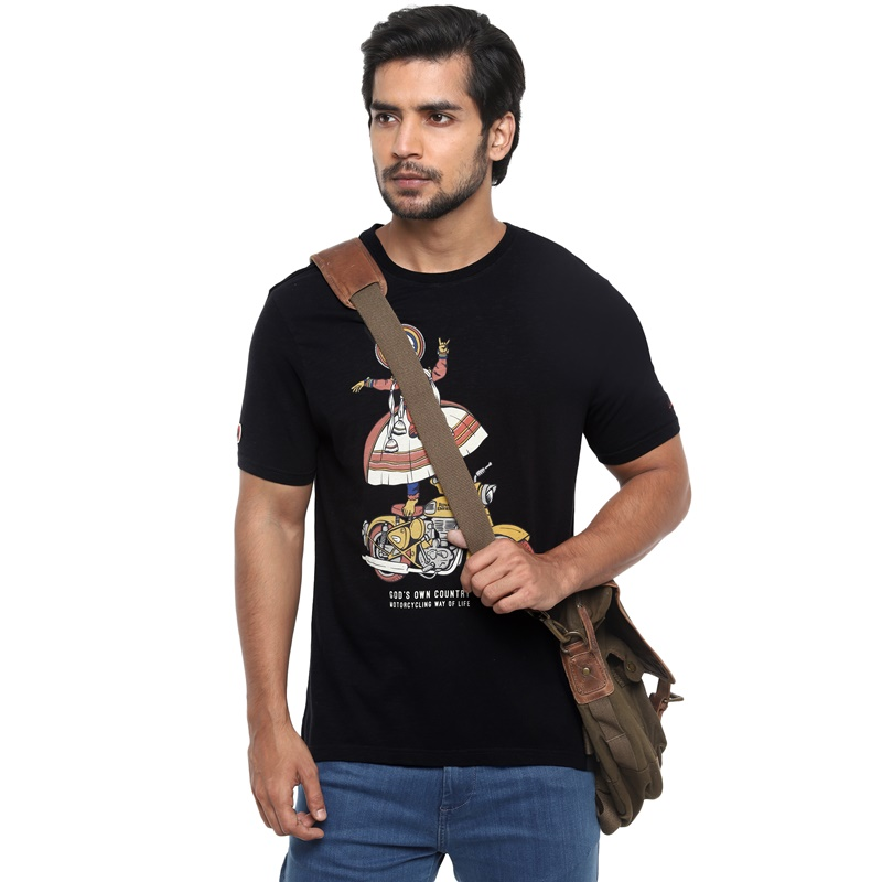 클래식 블랙 반팔 티셔츠-1