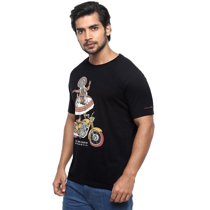 클래식 블랙 반팔 티셔츠-3