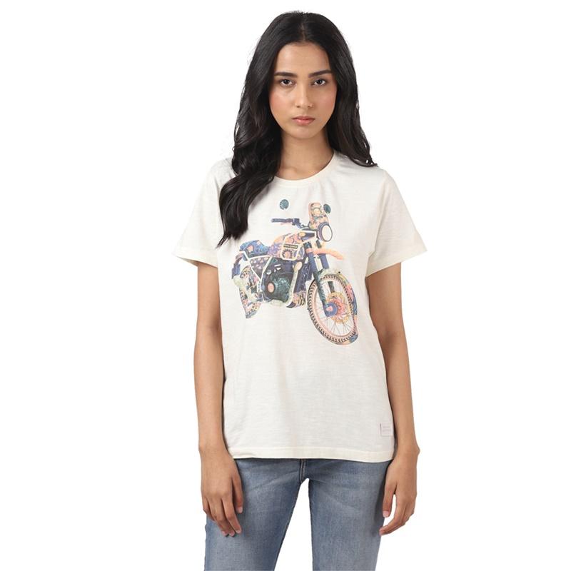 히말라얀 오프 화이트 반팔 티셔츠-1