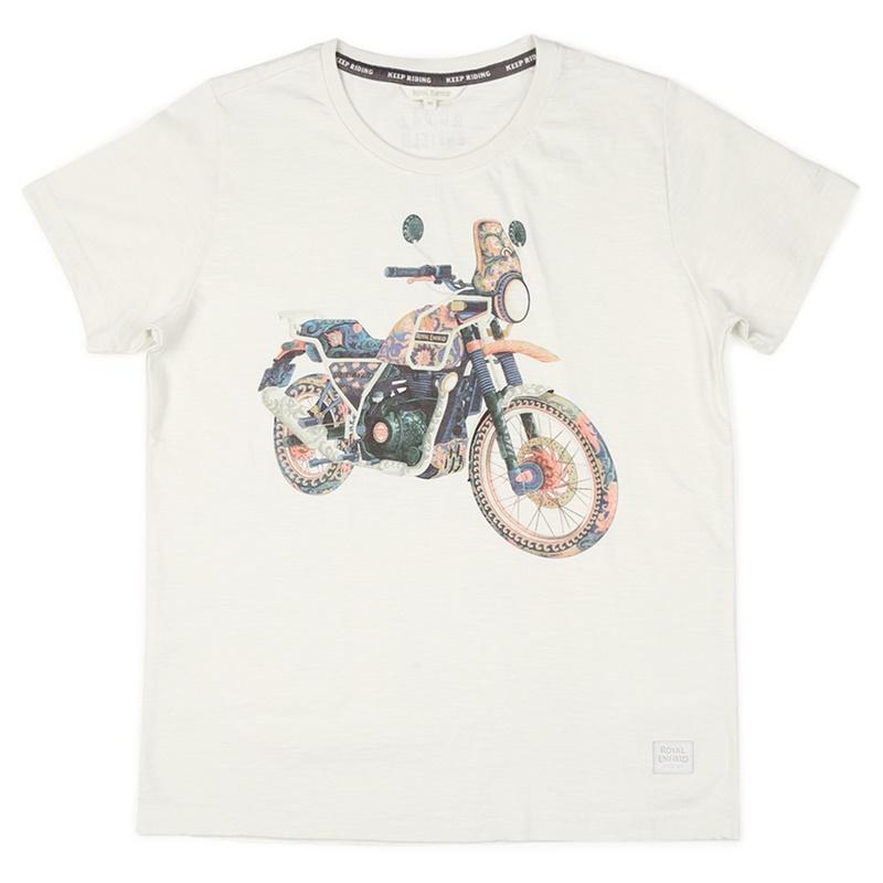 히말라얀 오프 화이트 반팔 티셔츠-4