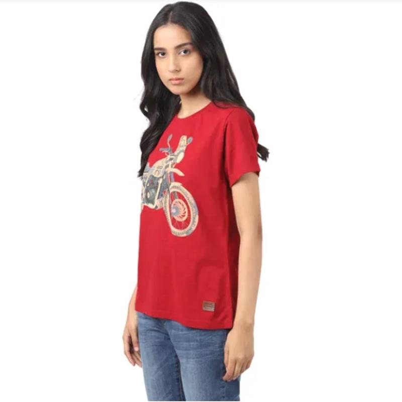 히말라얀 체리 레드 반팔 티셔츠-2
