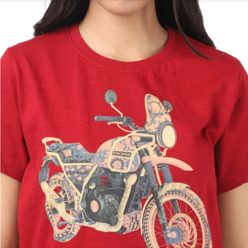 히말라얀 체리 레드 반팔 티셔츠-4