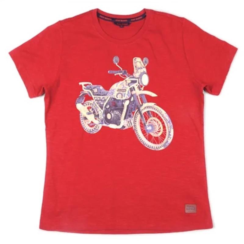 히말라얀 체리 레드 반팔 티셔츠-5