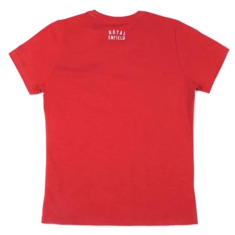 히말라얀 체리 레드 반팔 티셔츠-6