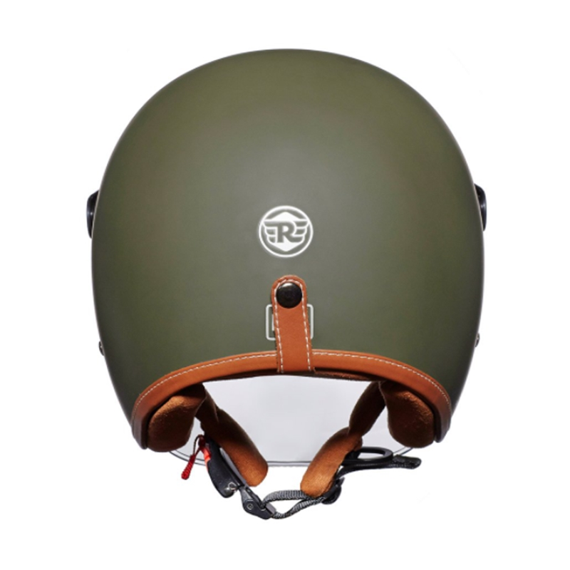 LTHR. TRIM 배틀 그린 헬멧-3