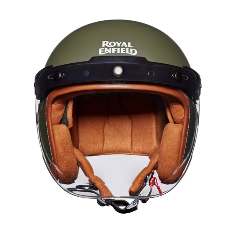 LTHR. TRIM 배틀 그린 헬멧-4