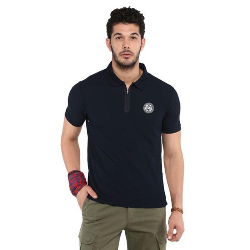 라이드 온 네이비 폴로 티셔츠-1