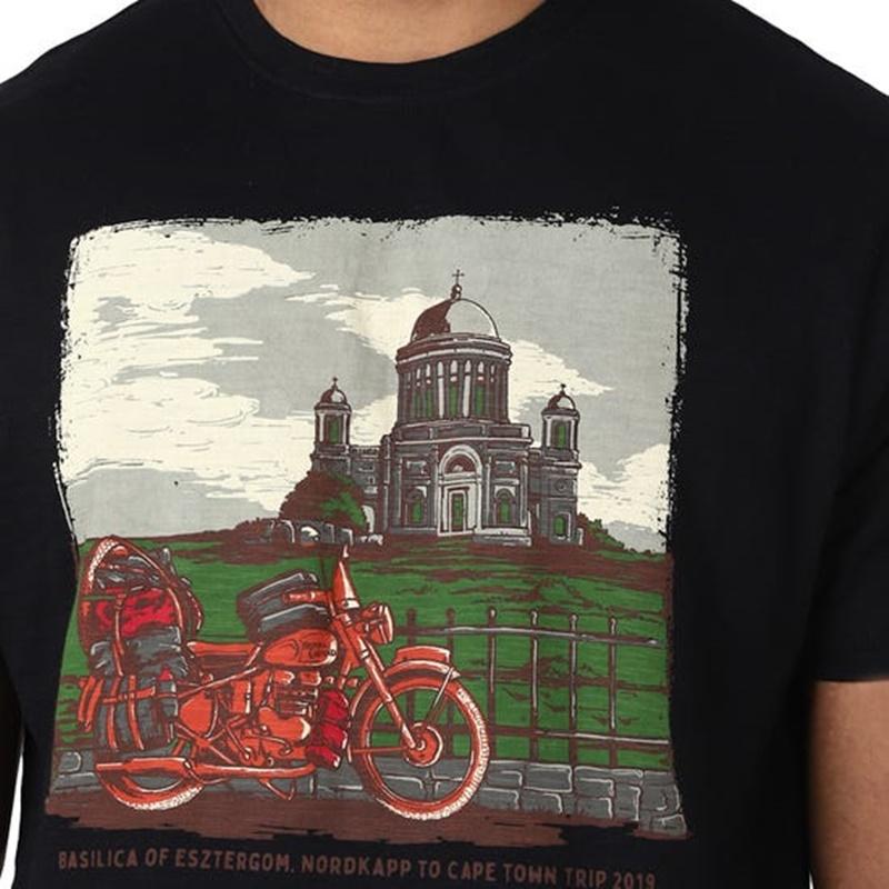 BASILICA OF ESZTERGOM 블랙 반팔 티셔츠-3