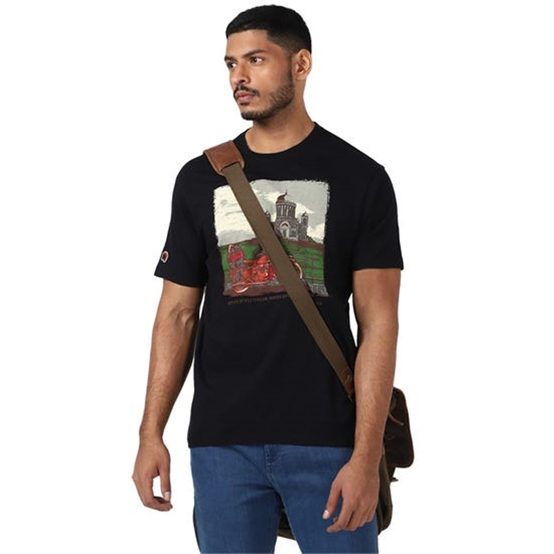 BASILICA OF ESZTERGOM 블랙 반팔 티셔츠-5